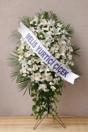 Beyaz Çiçeklerden Ferforje