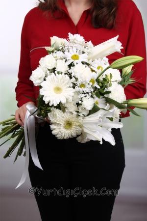 Yurtdışına Beyaz Kır Çiçekleri